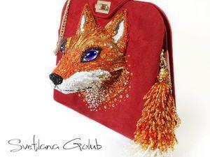 Сумочка с барельефом Рыжая лисичка. Ярмарка Мастеров - ручная работа, handmade.