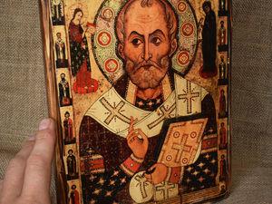 Больше фотографий иконы Николая. Ярмарка Мастеров - ручная работа, handmade.