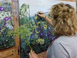 Цветочный мир художницы Marie Mills. Ярмарка Мастеров - ручная работа, handmade.