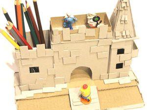 Мастерим замок-карандашницу из картона. Часть 1. Ярмарка Мастеров - ручная работа, handmade.
