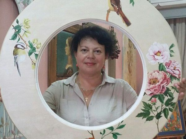Художественная роспись рамы для зеркала. | Ярмарка Мастеров - ручная работа, handmade