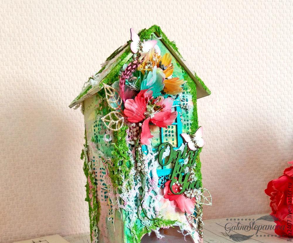 мастеркласс, декорирование, подарок, домик для чая, подарок на 8 марта