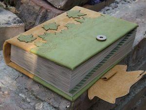 Июль .Третий месяц крымского лета . Телефонная книга из натуральной кожи с состаренной линованой бумагой . | Ярмарка Мастеров - ручная работа, handmade