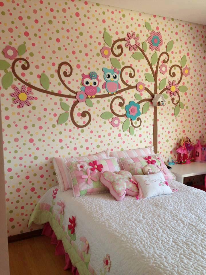 Оформление стен своими руками в детской комнате
