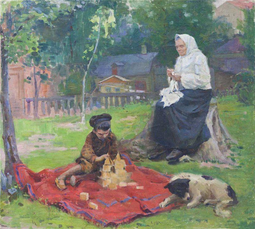 Когда есть чем заняться — стареть некогда: душевные картины о бабушках-рукодельницах, фото № 43