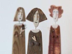 Деревянные человечки с характером и душой. Ярмарка Мастеров - ручная работа, handmade.