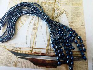 Скидка на колье-галстук с жемчугом!!!. Ярмарка Мастеров - ручная работа, handmade.