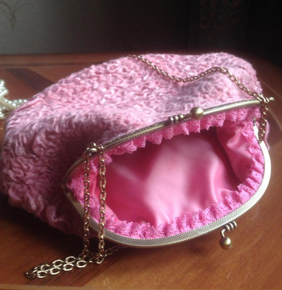 Изящная валяная сумочка с фермуаром, фото № 23