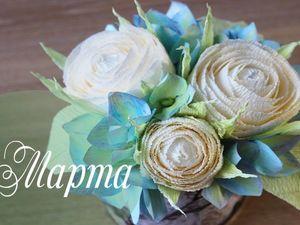 Создаем композицию роз из гофрированной бумаги в коробочке. Ярмарка Мастеров - ручная работа, handmade.