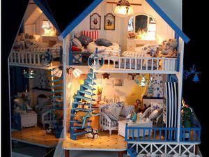 Коллекционный кукольный домик у моря | Ярмарка Мастеров - ручная работа, handmade