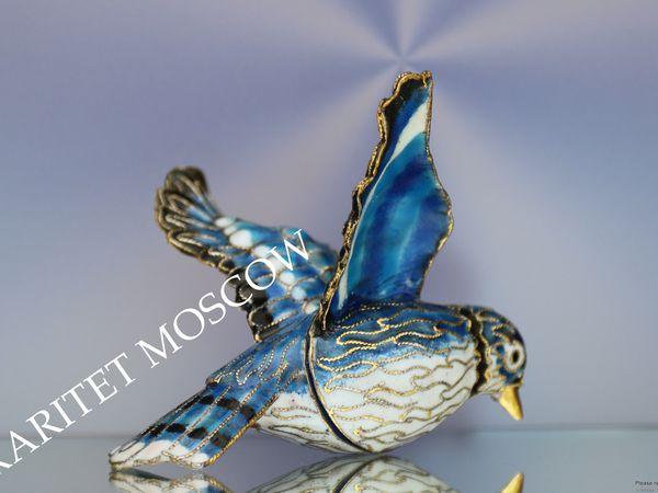 РЕДКОСТЬ Птица зажим рамка латунь эмаль клуазоне 9 | Ярмарка Мастеров - ручная работа, handmade