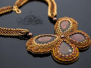 Кулон Аммолитовая бабочка. Ярмарка Мастеров - ручная работа, handmade.
