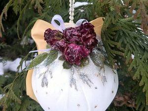 Мастерим новогодний шар с сухоцветами. Ярмарка Мастеров - ручная работа, handmade.