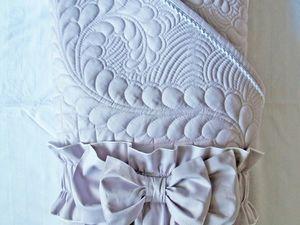 Одеяло на выписку с бантом. Ярмарка Мастеров - ручная работа, handmade.