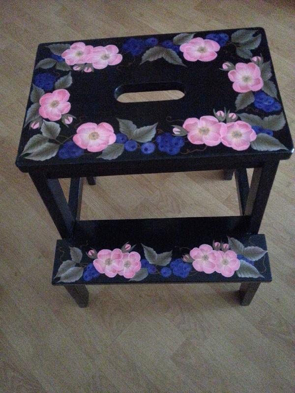 обучение росписи мебели, мастер-класс по росписи
