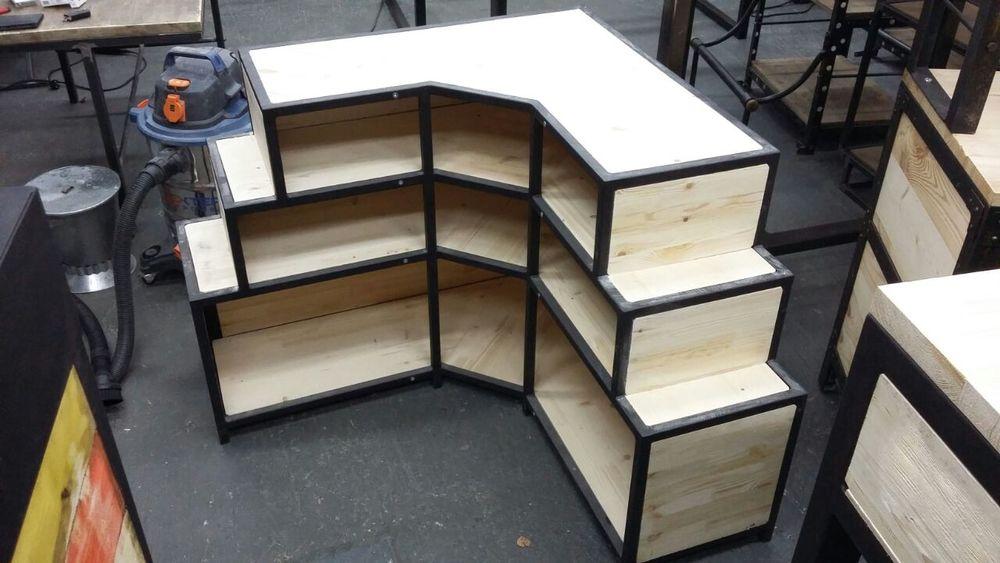 мебель на заказ, рецепшн лофт, тумба