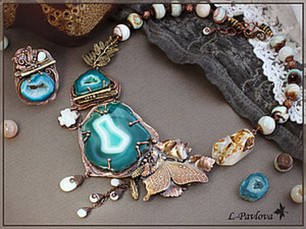 How to Make a Copper Jewellery Set for Ivan Kupala Night | Livemaster - handmade
