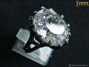 """Циркон. """"Многоликий"""" кольцо с кубическим цирконом бриллиантовой огранке. Ярмарка Мастеров - ручная работа, handmade."""