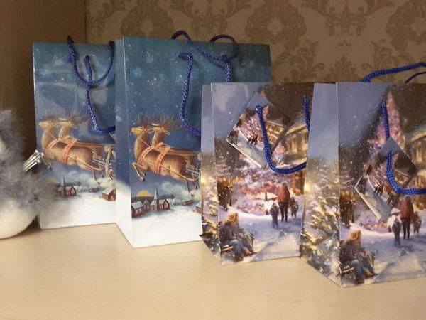 Подарочный новогодний пакет к заказу | Ярмарка Мастеров - ручная работа, handmade