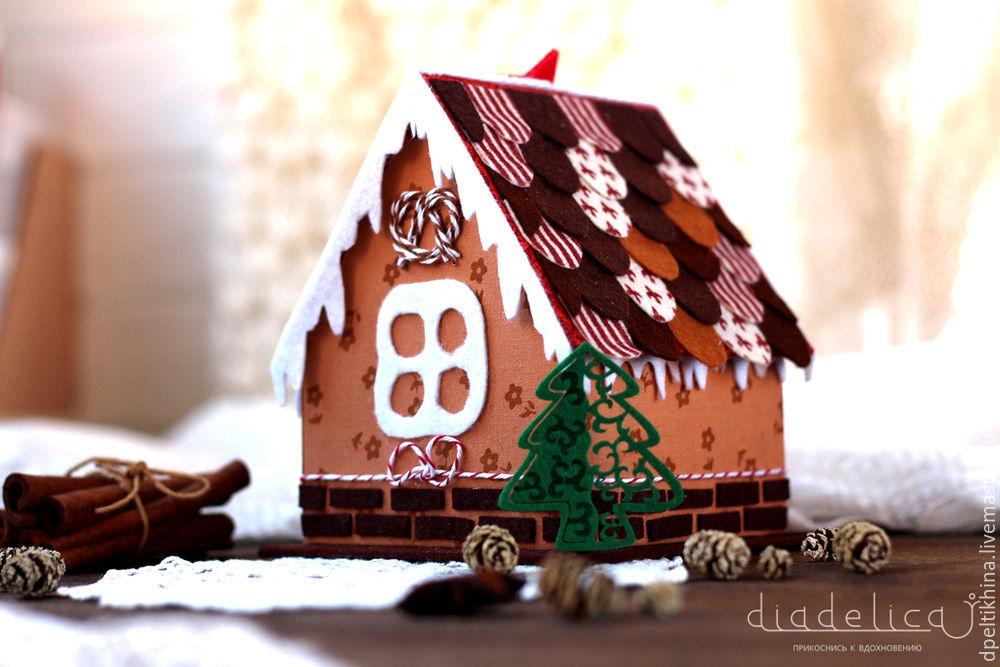 Пряничный домик из картона