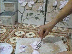 Видео мастер-класс по работе с декоративной штукатуркой: выкладываем  мастихином цветки магнолии | Ярмарка Мастеров - ручная работа, handmade