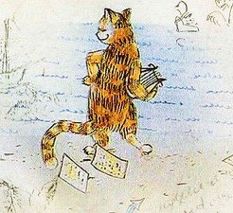 в память о поэте, коты