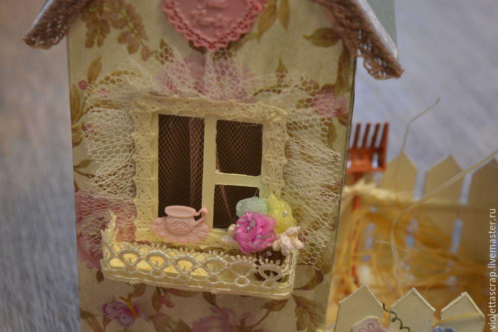 Мастер-класс: изготавливаем дуэт из чайных домиков с конфетницей, фото № 14