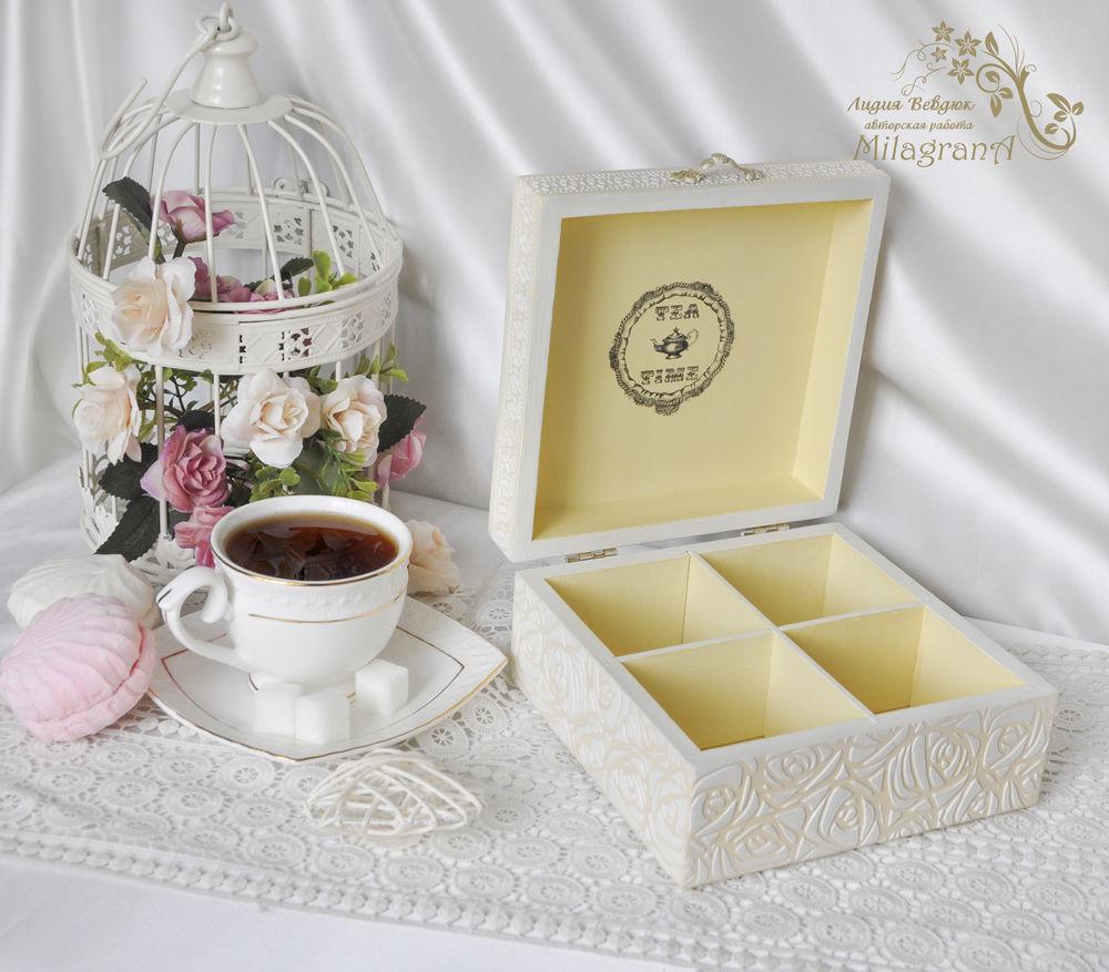 чаепитие, купить чайную шкатулку, шкатулка ручной работы, шкатулка для сладостей
