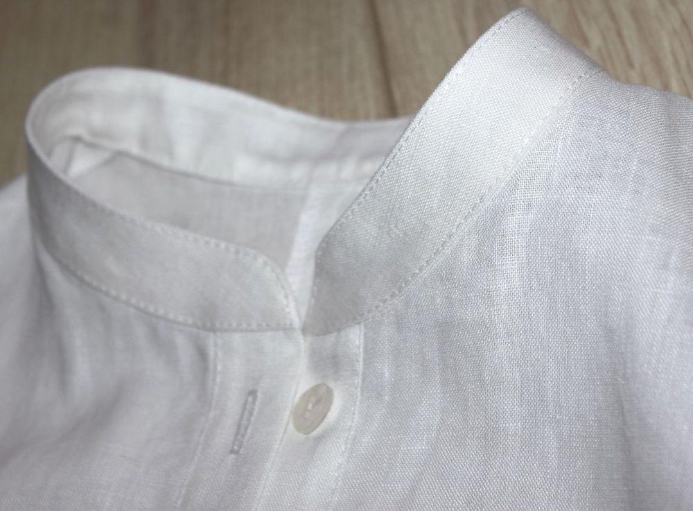 дизайнерское платье, льняная одежда, белое платье, воротник, модное платье, платье с карманами