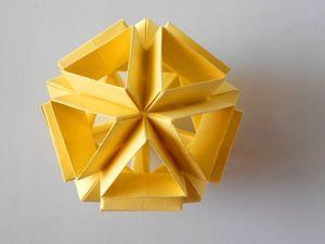 Видео мастер-класс: собираем икосаэдр из бумаги в технике оригами. Ярмарка Мастеров - ручная работа, handmade.