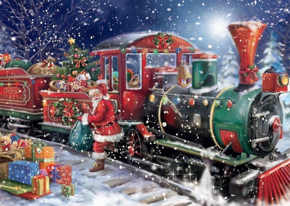 Открытка с паровозом с новым годом, сделать открытки марта