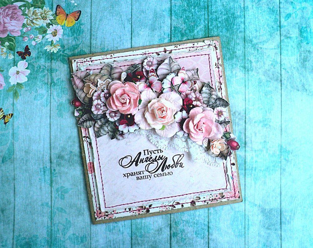 Рождения крестницы, открытка для цветочного магазина