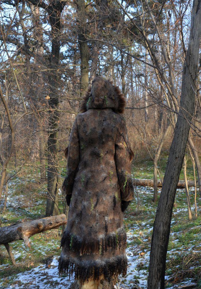 фотосессия зимнего пальто