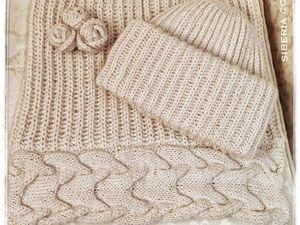 Новая работа Комплект аксессуаров Натюрэль, шапка Такори, снуд и брошь. Ярмарка Мастеров - ручная работа, handmade.