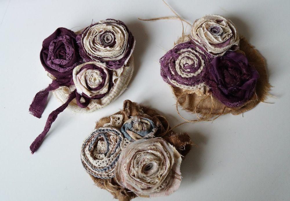 мастер-класс, цветы из ткани, wingsofart, бижутерия своими руками