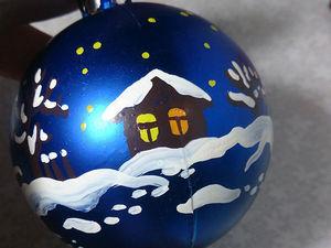 Роспись шариков на ёлку: теория и практика. Готовимся к Новому году. Ярмарка Мастеров - ручная работа, handmade.
