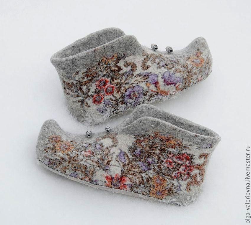 валяние тапок, обувь ручной работы, валяние сентябрь москва
