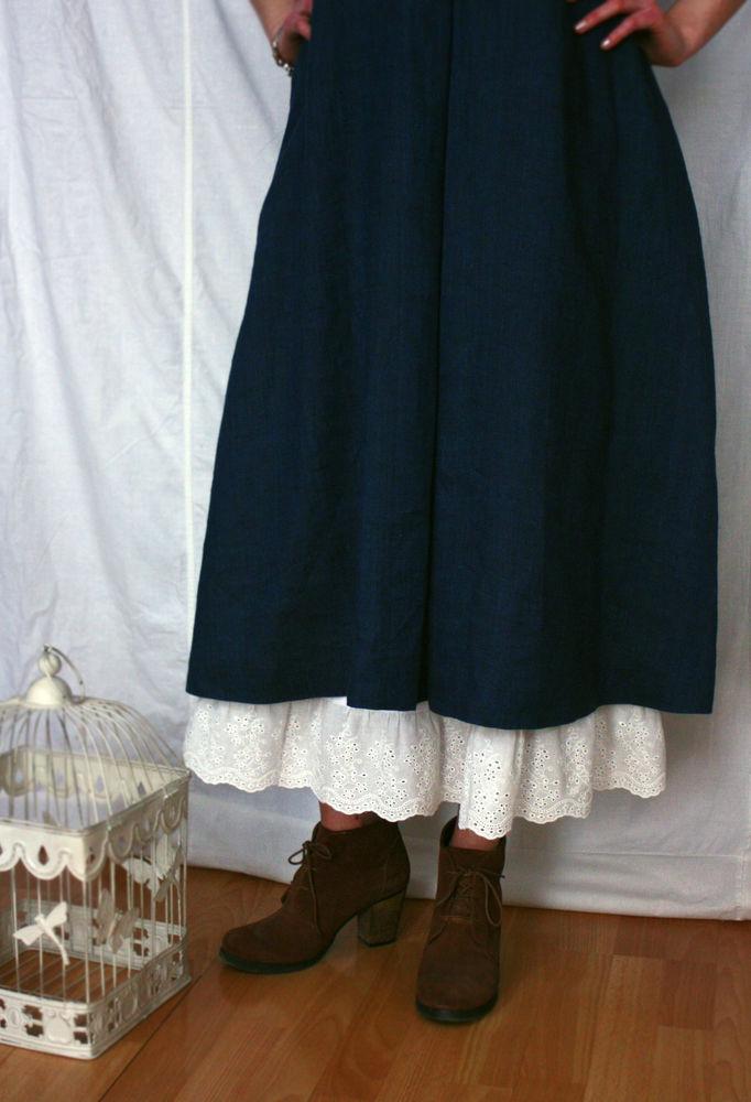 подкладка, юбка с кружевом, макси юбка, long skirt, linen petticoat