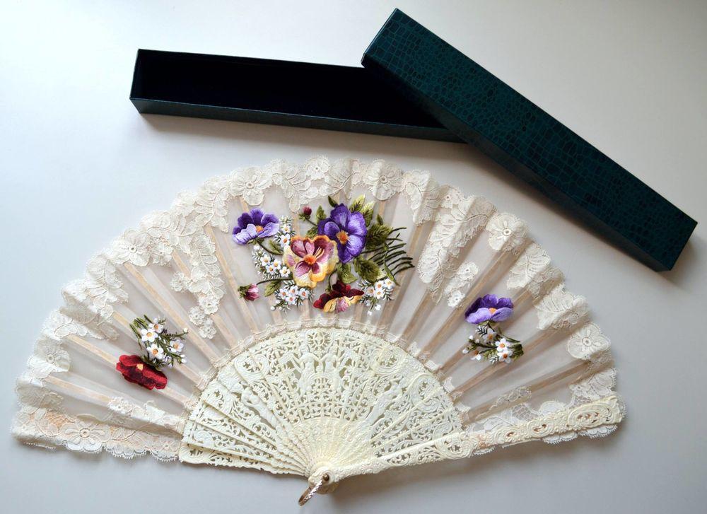 刺绣的扇子 - maomao - 我随心动