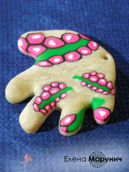 полимерная глина уроки для начинающих, полимерная глина для начинающих, цветочная трость, трость с цветочным рисунком, бусы из полимерной глины, мильфиори