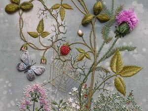 Объемная вышивка Розы Андреевой | Ярмарка Мастеров - ручная работа, handmade