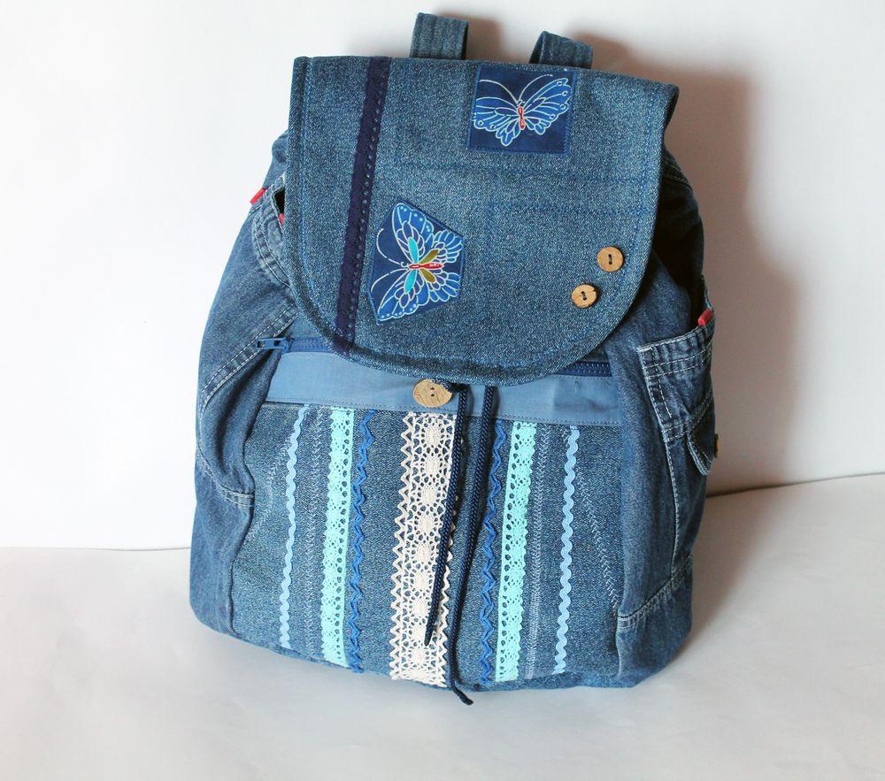 Рюкзаки из джинсов своими руками выкройки фото