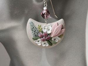 Аукцион с нуля на цветочные серьги до 21:00 мск (2/4). Ярмарка Мастеров - ручная работа, handmade.