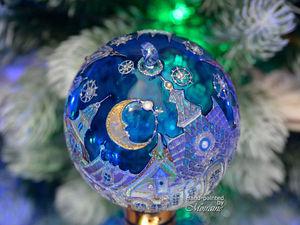 """Елочный шар """"Город Лунного света"""". Дополнительные фотографии и видео. Ярмарка Мастеров - ручная работа, handmade."""