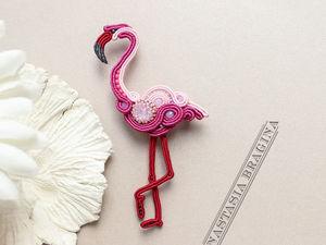 """Новая брошь """"Фламинго"""". Ярмарка Мастеров - ручная работа, handmade."""