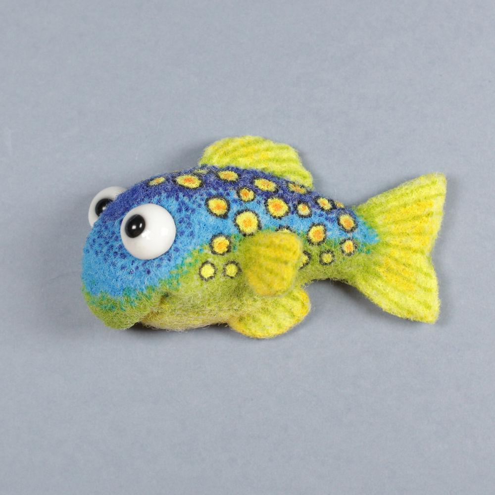 валяная игрушка, рыба