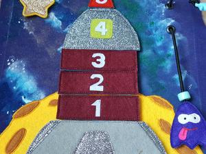 Создаем «космическую» страничку для развивающей книжки. Ярмарка Мастеров - ручная работа, handmade.