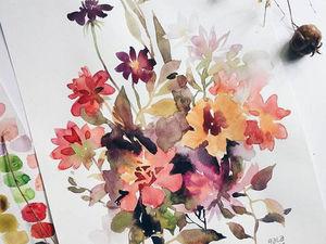 ВИДЕО как я рисую цветы акварелью | Ярмарка Мастеров - ручная работа, handmade