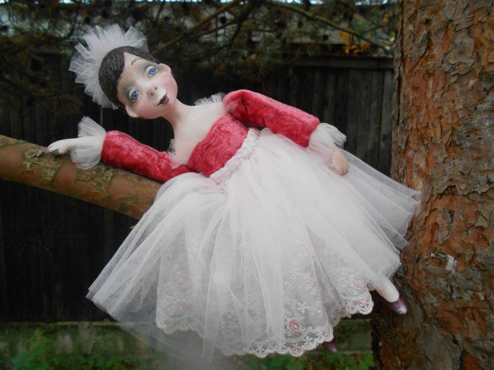 будуарная кукла, подарок своими руками