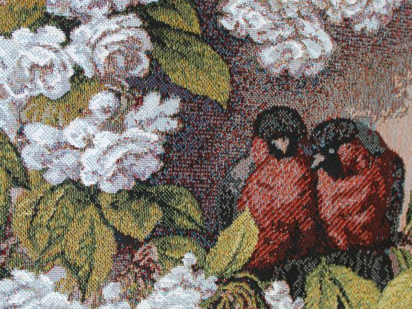 Ощущение безмятежности с гобеленовыми цветами и птичками !!! | Ярмарка Мастеров - ручная работа, handmade